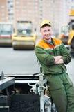 асфальтируя работы работника Стоковая Фотография RF