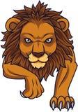 Атаковать льва шаржа иллюстрация штока