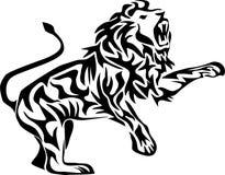 Атаковать льва иллюстрация вектора