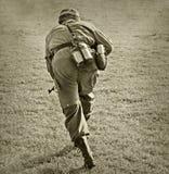 атакуя воин Стоковая Фотография RF