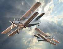 Атакуя самолет-истребители. стоковые изображения rf