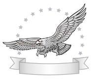 Атакуя эмблема орла Стоковые Изображения