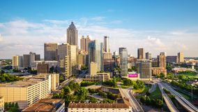 Атланта, Georgia, горизонт США сток-видео
