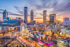 Атланта, Georgia, США стоковые фото