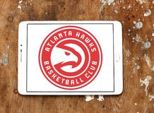 Атланта Hawks логотип баскетбольной команды Стоковое фото RF