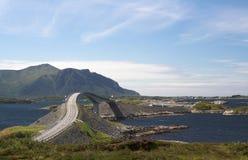 атлантическая дорога Норвегии Стоковое фото RF