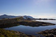 Атлантическая дорога около Molde в южной Норвегии Стоковая Фотография RF