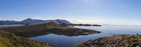 Атлантическая дорога около Molde в южной Норвегии Стоковое Фото