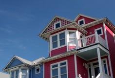 атлантические дома пляжа Стоковая Фотография RF