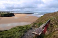 атлантический взгляд пляжа Стоковые Изображения RF