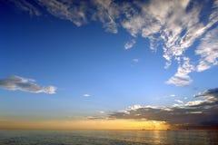 атлантический восход солнца океана свободного полета Стоковые Фотографии RF
