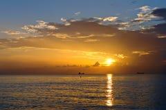 атлантический восход солнца океана свободного полета Стоковое Фото