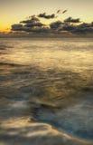 атлантический заход солнца Стоковые Фото
