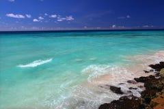 атлантический океан Барбадосских островов Стоковые Изображения RF