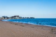 Атлантический океан в парке пункта маяка в New Haven Коннектикуте Стоковые Фотографии RF