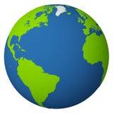 атлантический океан глобуса Стоковое фото RF