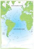атлантический океан карты Стоковое Изображение RF