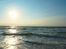 Атлантический океан на пляже Каролины стоковая фотография