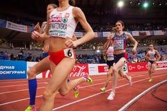 Атлетика - женщина 1500m, TERZIC Amela Стоковое Изображение