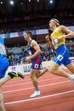 Атлетика - Mihail Dudas; Семиборье человека, 1000m Стоковое фото RF