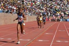 атлетическая женская гонка Стоковая Фотография