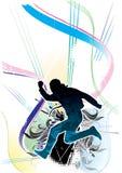атлетическая предпосылка флористическая Стоковые Изображения RF