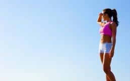 атлетическая работая женщина стоковые изображения