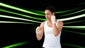Атлетический бокс женщины видеоматериал