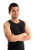 атлетический инструктор пригодности строителя стоковые фотографии rf