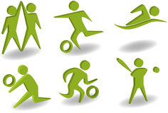 атлетический комплект иконы 3d Стоковые Изображения RF