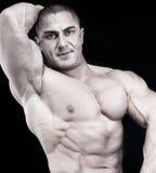 атлетический привлекательный мужчина строителя тела сексуальный Стоковое Изображение