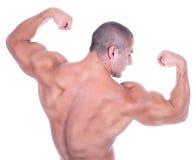 атлетический привлекательный мужчина builde тела сексуальный стоковые фото