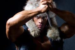 атлетический человек ножа сильный Стоковое Изображение RF
