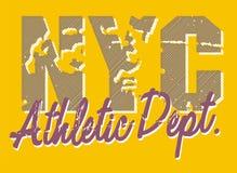 атлетическое nyc dept иллюстрация штока