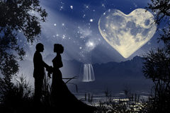 Атмосфера валентинки романтичная Стоковые Изображения RF