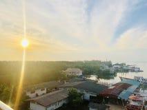 Атмосфера восхода солнца утра стоковое изображение