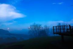 Атмосфера на горе человека животиков Mae Стоковое Изображение RF