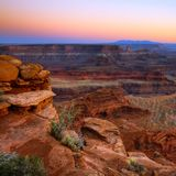 Атмосфера на дисплее в каньоне стоковые фотографии rf
