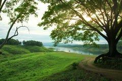 Атмосфера реки утра Стоковое фото RF