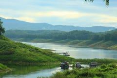 Атмосфера реки утра Стоковое Изображение