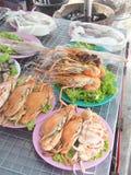Атмосфера Seashore и морепродукты Стоковое Изображение