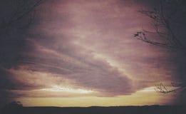 Атмосферический бурный ландшафт стоковое фото
