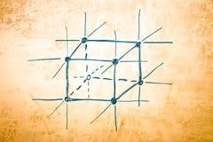 атомная физика металла решетки Стоковая Фотография