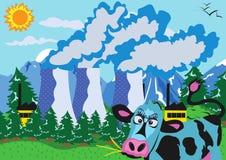 атомная электростанция коровы Стоковая Фотография