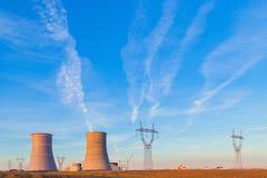 Атомная электростанция которая под конструкцией Стоковые Фотографии RF