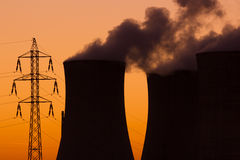 Атомная электростанция стоковое фото