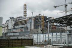 Атомная электростанция Чернобыль, 4-ый блок Стоковое Фото