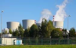 Атомная электростанция Temelin в чехии Европе Стоковые Фотографии RF