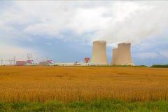 Атомная электростанция Temelin в чехии Европе Стоковые Изображения
