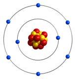 Атомное строение кислорода иллюстрация вектора